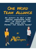 One Word Team Alliance Activity